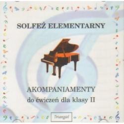 SOLFEŻ ELEMENTARNY. AKOMPANIAMENTY DO ĆWICZEŃ DLA KLASY II [1 CD]