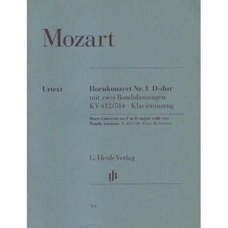 Wolfgang Amadeus Mozart HORNKONZERT NR. 1 D-DUR MIT ZWEI RONDOFASSUNGEN