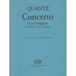 Johann Joachim Quantz CONCERTO IN SOL MAGGIORE PER FLUATO, ARCHI E CONTINUO [antykwariat]