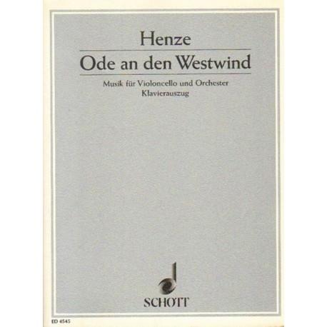 Hans Werner Henze ODE AN DEN WESTWIND. MUSIK FUR VIOLONCELLO UND ORCHESTER [antykwariat]
