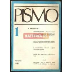 PISMO NR 1 ROK 1. MARZEC 1981 [antykwariat]