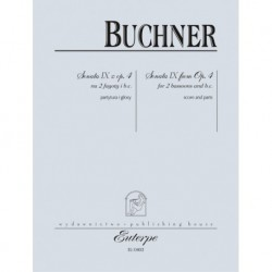 SONATA IX Z OP. 4 NA 2 FAGOTY i B.C. Philipp Friedrich Buchner