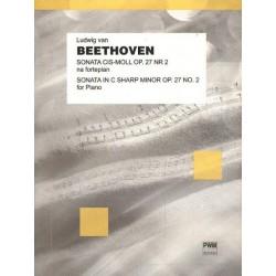 "Ludwig van Beethoven SONATA CIS-MOLL OP. 27 NR 2 ""KSIĘŻYCOWA"" NA FORTEPIAN"