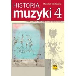 HISTORIA MUZYKI. CZĘŚĆ 4 Danuta Gwizdalanka
