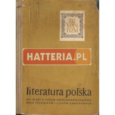 LITERATURA POLSKA OKRESU ROMANTYZMU [antykwariat]