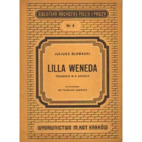 Juliusz Słowacki LILLA WENEDA [antykwariat]