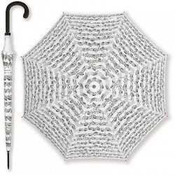 LARGE UMBRELLAS WITH A MUSICAL MOTIFA - WHITE COLOR