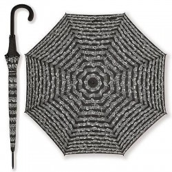 LARGE UMBRELLAS WITH A MUSICAL MOTIFA - BLACK COLOR
