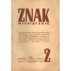 ZNAK 2. MIESIĘCZNIK. SIERPIEŃ 1946 [antykwariat]