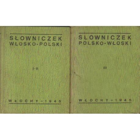 Jan Oktawiec (red.) SŁOWNICZEK WŁOSKO-POLSKI I POLSKO-WŁOSKI. TOM 1-3 [antykwariat]