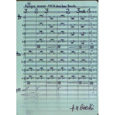 Teczka niebieska z motywem nut i autografem Henryka Mikołaja Góreckiego