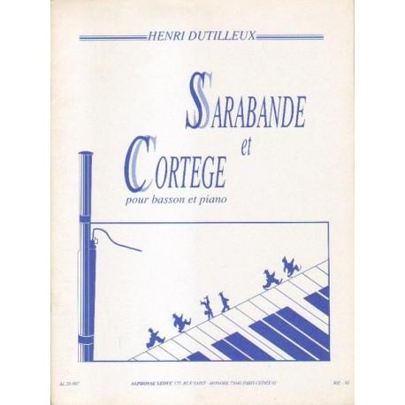 Henri Dutilleux SARABANDE ET CORTEGE POUR BASSON ET PIANO