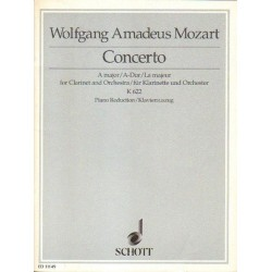 Wolfgang Amadeus Mozart CONCERTO A MAJOR FOR CLARINET AND ORCHESTRA