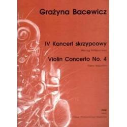 Grażyna  Bacewicz IV KONCERT SKRZYPCOWY