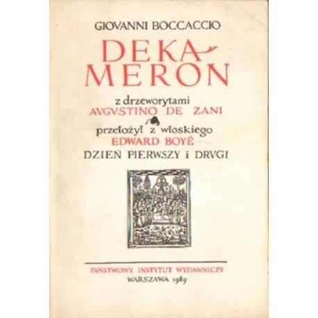Giovanni Boccaccio DEKAMERON. DZIEŃ PIERWSZY I DRUGI [antykwariat]