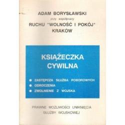 Adam Borysławski KSIĄŻECZKA CYWILNA [antykwariat]