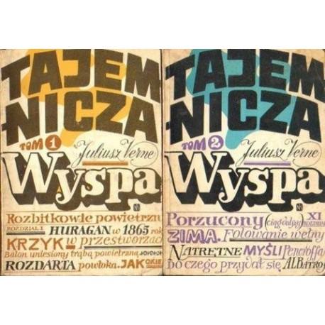 Juliusz Verne TAJEMNICZA WYSPA. TOM 1-2 [antykwariat]