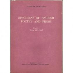 Stanisław Helsztyński SPECIMENS OF ENGLISH POETRY AND PROSE. CZĘŚĆ 1: WIEK VII-XVI [antykwariat]