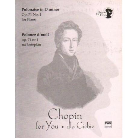 Fryderyk Chopin POLONEZ D-MOLL OP. 71 NR 1. WYCIĄG FORTEPIANOWY
