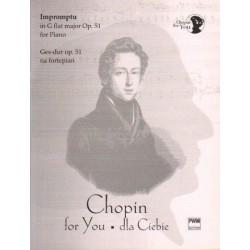 Fryderyk Chopin IMPROMPTU GES-DUR OP. 51 NA FORTEPIAN. WYCIĄG FORTEPIANOWY