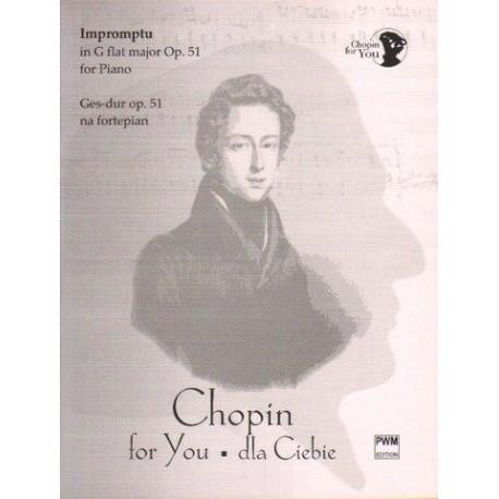 IMPROMPTU GES-DUR OP. 51 NA FORTEPIAN Fryderyk Chopin