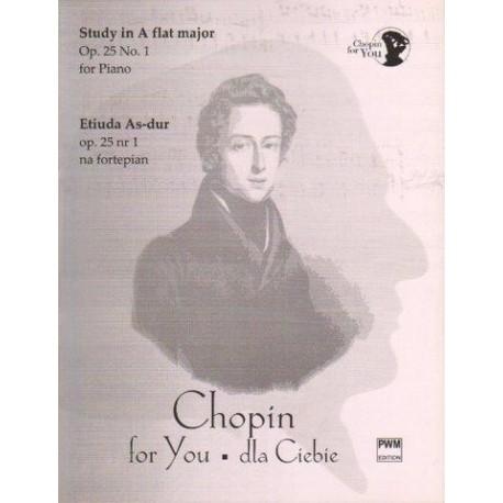 Fryderyk Chopin ETIUDA AS-DUR OP. 25 NR 1 NA FORTEPIAN. WYCIĄG FORTEPIANOWY