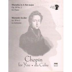 Fryderyk Chopin MAZUREK AS-DUR OP. 59 NR 2 NA FORTEPIAN. WYCIĄG FORTEPIANOWY