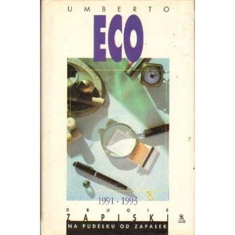 Umberto Eco DRUGIE ZAPISKI NA PUDEŁKU OD ZAPAŁEK [antykwariat]