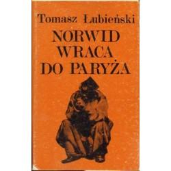 Tomasz Łubieński NORWID WRACA DO PARYŻA [antykwariat]