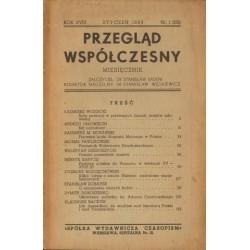 PRZEGLĄD WSPÓŁCZESNY. MIESIĘCZNIK. ROK XVIII, STYCZEŃ 1939, NR 1 (201) [antykwariat]