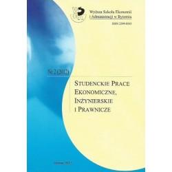 STUDENCKIE PRACE EKONOMICZNE, INŻYNIERSKIE I PRAWNICZE. NR 2 (2012)