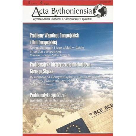 ACTA BYTHONIENSIA NR 3/2007, NR 4/2008