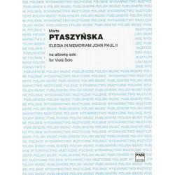 Marta Ptaszyńska ELEGIA IN MEMORIAM JOHN PAUL II NA ALTÓWKĘ SOLO