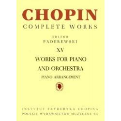 Fryderyk Chopin UTWORY NA FORTEPIAN I ORKIESTRĘ, CW WERSJA NA 2 FORTEPIANY