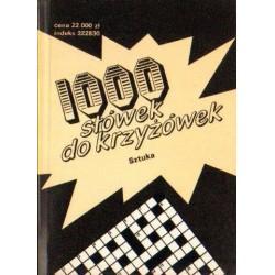 1000 SŁÓWEK DO KRZYŻÓWEK. SZTUKA [antykwariat]