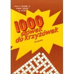 1000 SŁÓWEK DO KRZYŻÓWEK. GEOGRAFIA [antykwariat]