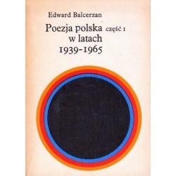 Edward Balcerzan POEZJA POLSKA W LATACH 1939-1965