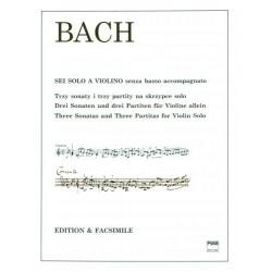 Johann Sebastian Bach TRZY SONATY I TRZY PARTITY NA SKRZYPCE SOLO