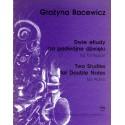 DWIE ETIUDY NA PODWÓJNE DŹWIĘKI NA FORTEPIAN Grażyna  Bacewicz