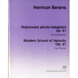 NAJNOWSZA SZKOŁA BIEGŁOŚCI OP. 61 NA FORTEPIAN Herman Berens