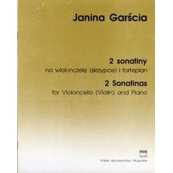 2 SONATINY NA WIOLONCZELĘ (SKRZYPCE) I FORTEPIAN Janina Garścia