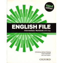ENGLISH FILE INTERMEDIATE WB WITH KEY 3ED Christina Latham-Koenig, Christina Latham-Koenig WITH JANE HUDSON
