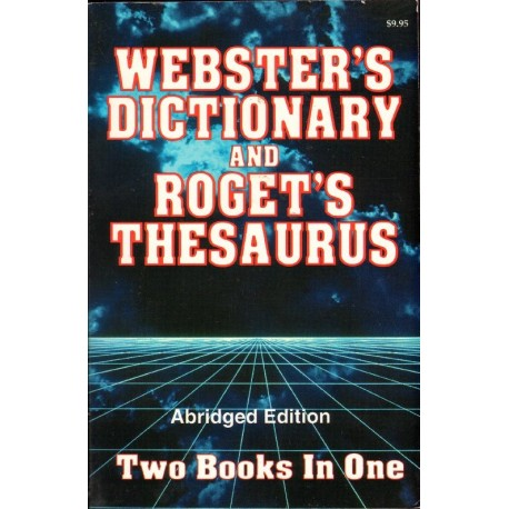 WEBSTER'S DICTIONARY AND ROGET'S THESAURUS [antykwariat]