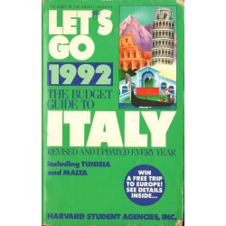 LET'S GO: THE BUDGET GUIDE TO ITALY 1992 (ed. Jassica Goldberg) [used book]