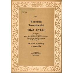 TRZY CYKLE NA CHÓR MIESZANY A CAPPELLA Romuald Twardowski [antykwariat-255]