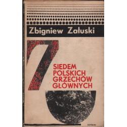 SIEDEM POLSKICH GRZECHÓW GŁÓWNYCH Zbigniew Załuski [antykwariat]