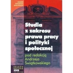 STUDIA Z ZAKRESU PRAWA PRACY I POLITYKI SPOŁECZNEJ. ROCZNIK 2008