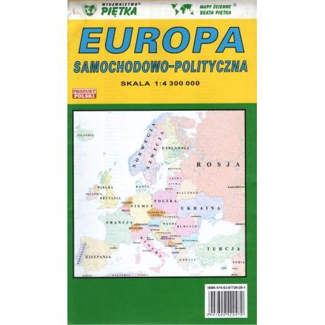 EUROPA SAMOCHODOWA-POLITYCZNA 1: 4 300 000
