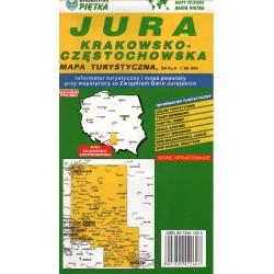 JURA KRAKOWSKO-CZĘSTOCHOWSKA. MAPA TURYSTYCZNA 1:95 000