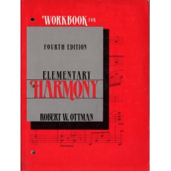 WORKBOOK FOR ELEMENTARY HARMONY. FOURTH EDITION Robert W. Ottman [antykwariat]